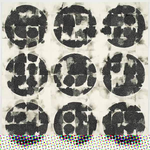 Eunice Kim - Tessellation (144-3) #9, monotipo de colagrafía, 92 x 92 cm, 2012, edición única