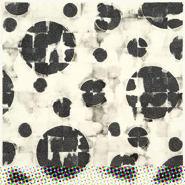 Eunice Kim - Tessellation (144-3) #8, monotipo de colagrafía, 92 x 92 cm, 2012, edición única