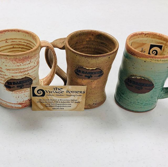 We are selling these incredible, hand crafted 12 Baskets mugs donated to us by @thevillagepotters and @engagement_wwc. $25 a piece! Come by the cafe or message us to reserve yours. Endorsed by Queen Mother 👆☕️💕