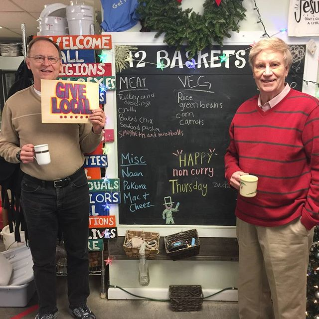 Fred and Phil from the API board are here for lunch! Reminding us all donations through Give!Local are matched $1 for $1 up to 5k through December!