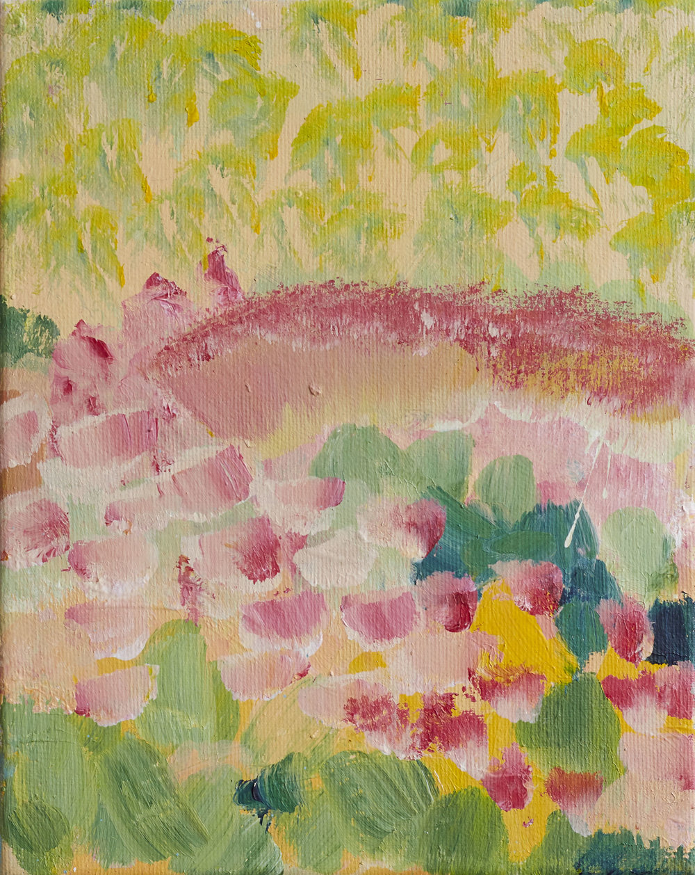 'The Rose Garden' 20cmx18cm acrylic on canvas