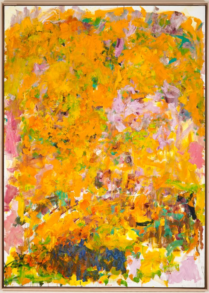 Joan Mitchell (American, 1925–1992), Begonia, 1982, Oil on canvas, 111 1/2 x 80 inches, Gift of Dr. and Mrs. Armand J. Castellani, 1991