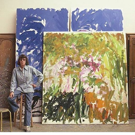 Joan Mitchell in artist studio On how Nature Inspired her