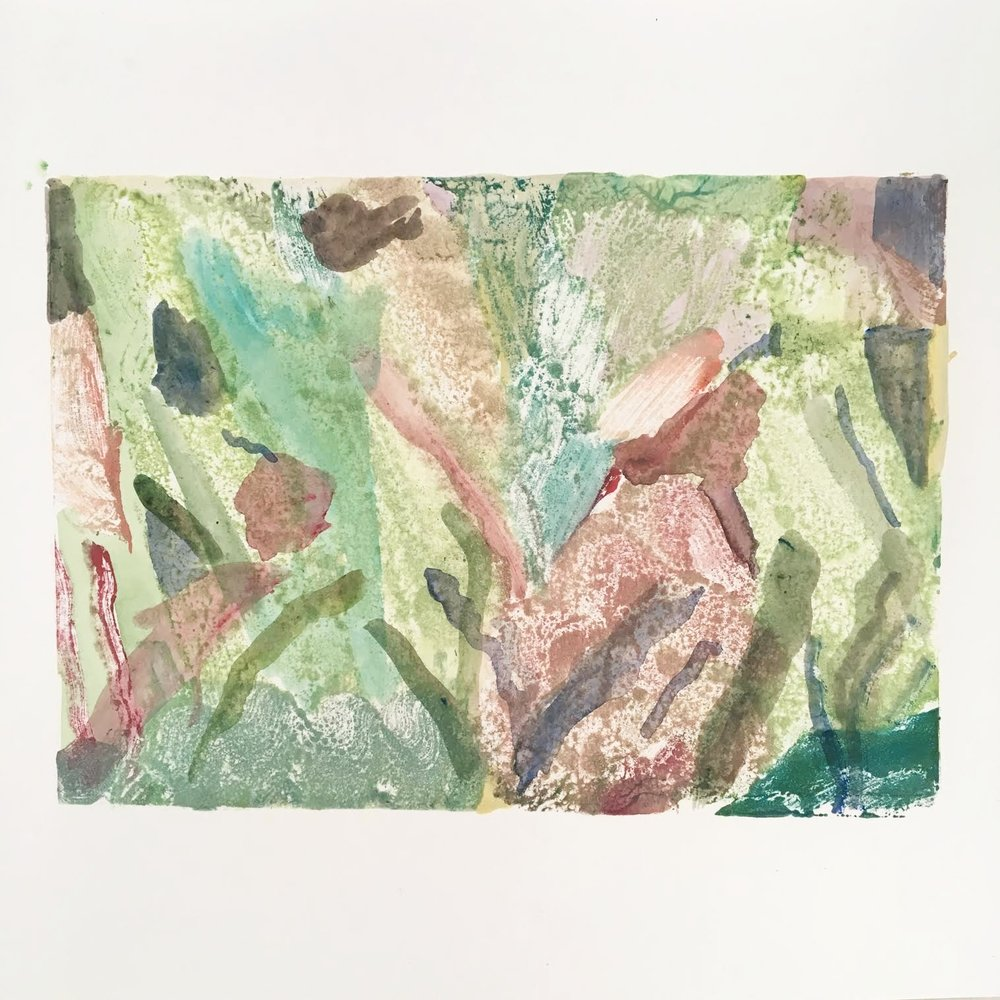 Monotype - developing my paintings to create a different texture and immediacy