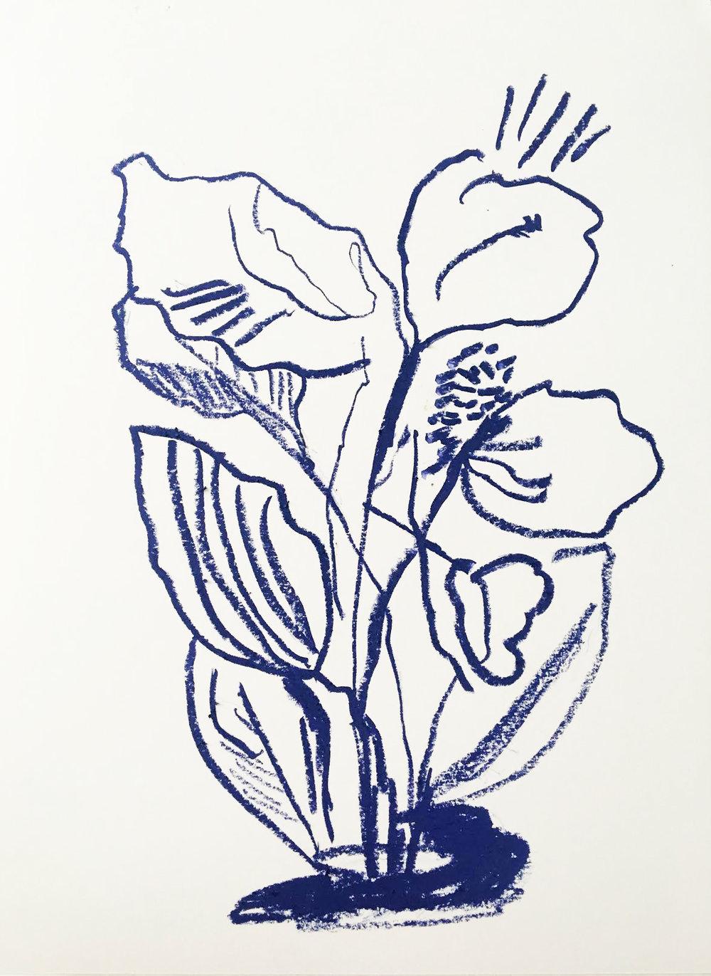 Oil pastel on paper, 2018