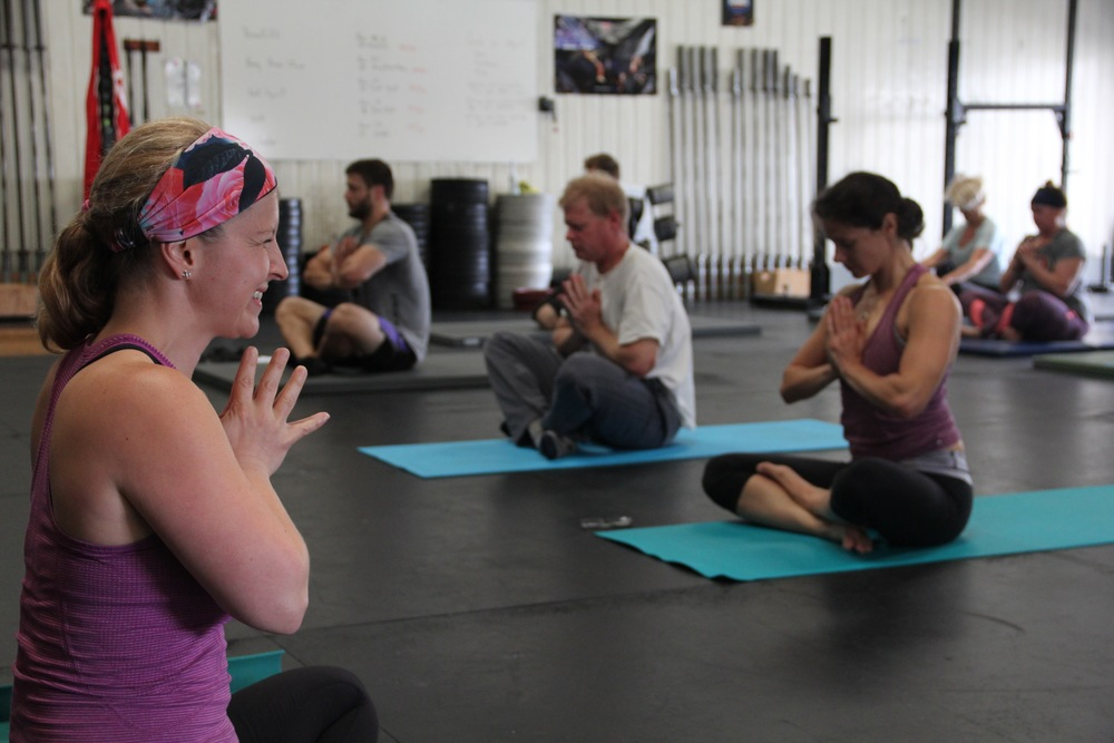 Debbie leading Yoga for Athletes