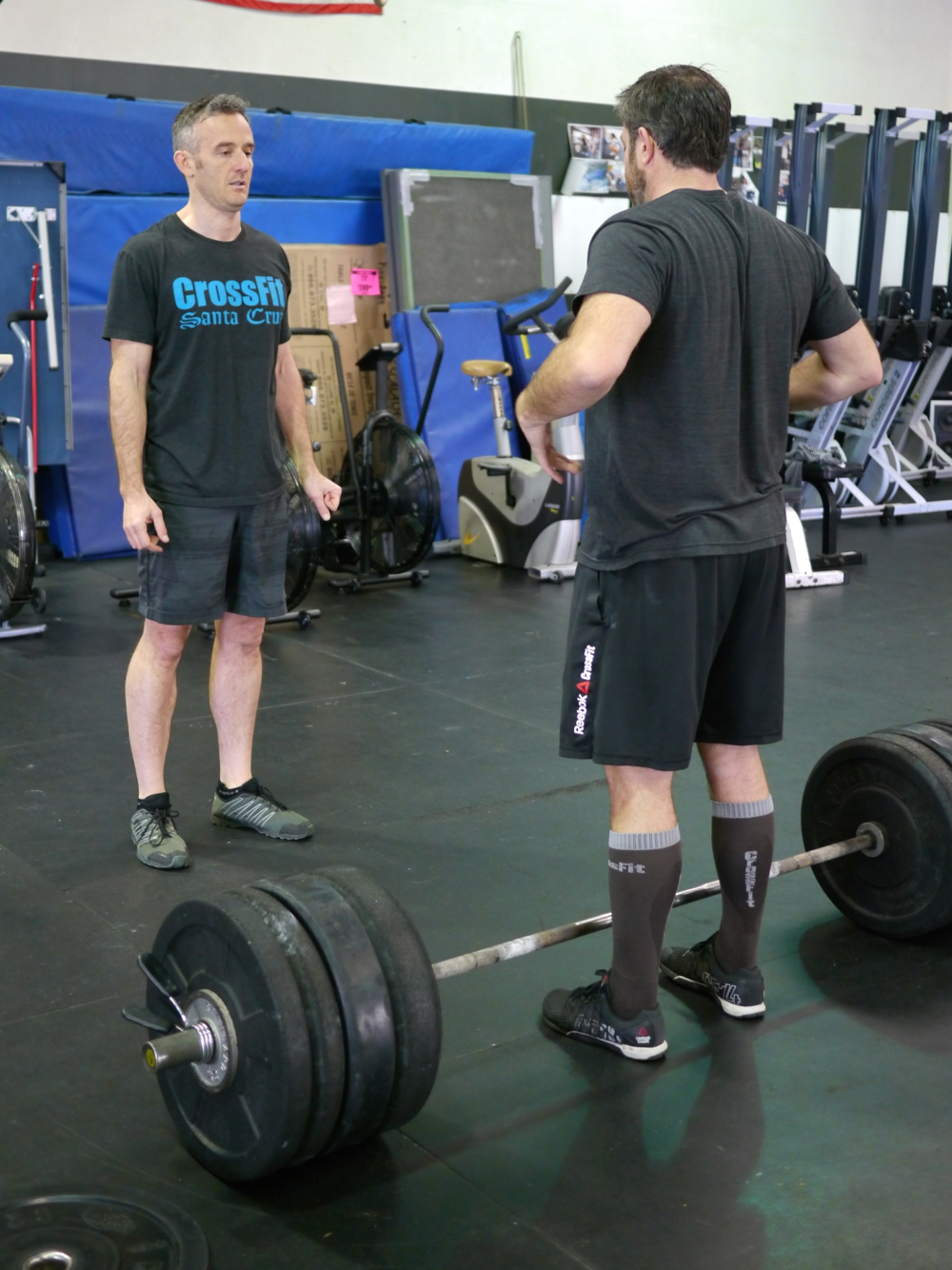 Hollis and Roger working on deadlift position