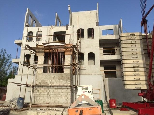 In progress: Installation of the 3rd Floor Wall Panels