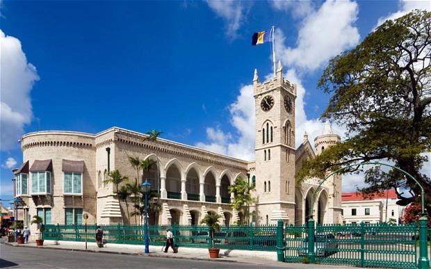 The Parliament Buildings of Barbados in Bridgetown.