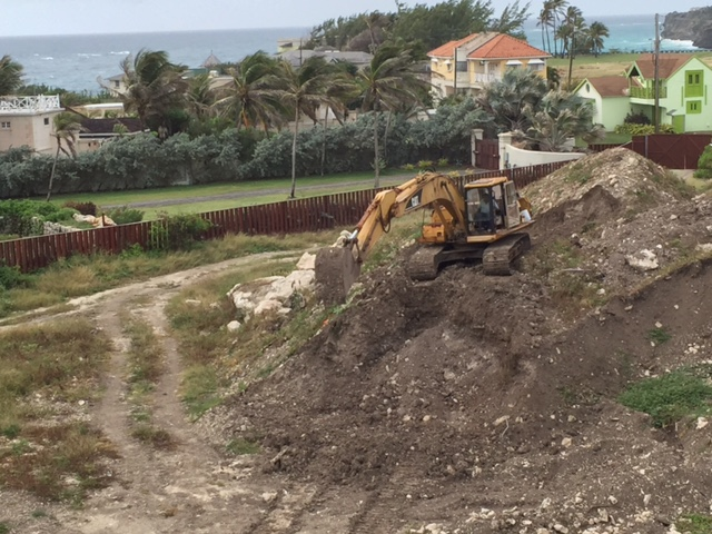 Clearing of topsoil at the Phase 2 site of The Crane Private Residences