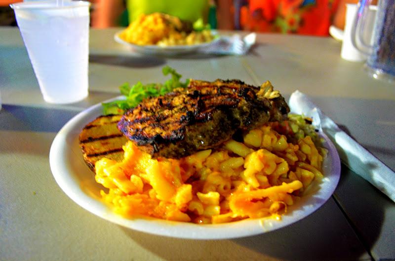 Mahi Mahi and Macaroni Pie via the wanderfulltraveler.com
