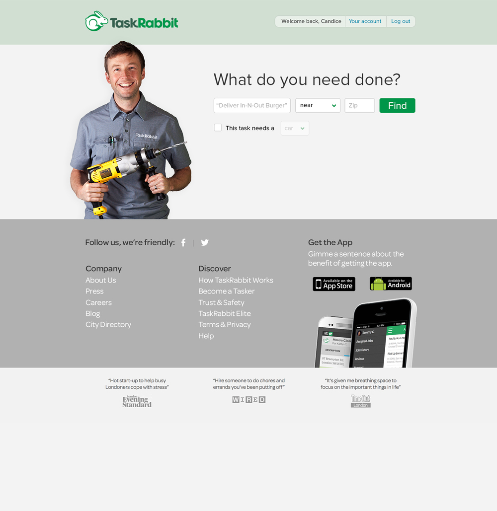 Chris Lam — TaskRabbit Client Redesign