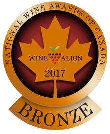 Bronze Medal  - National Wine Awards of Canada 2017, Black Market Secret Society 2016, and Syrah 2014
