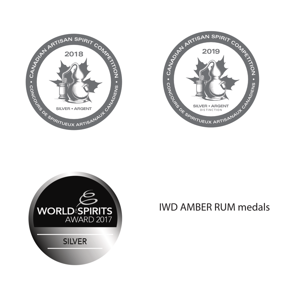 IWD Amber Rum medals.png