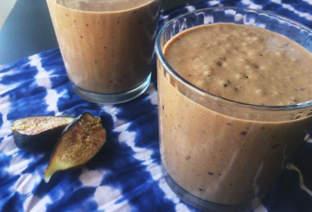 Fig cacao smoothie featured image