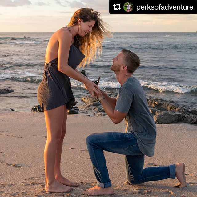 We are so happy for you guys. Congrats!!! • #Repost @perksofadventure ・・・ New chapter, same incredible love story! 💙💍🇨🇷 #ventureforth 📸 @lifeislikeaboxofcrayons #love #engaged #proposal #fiance #costarica #roughluxe #shesaidyes #beachproposal #engagementring #family #adventure #woodsbury