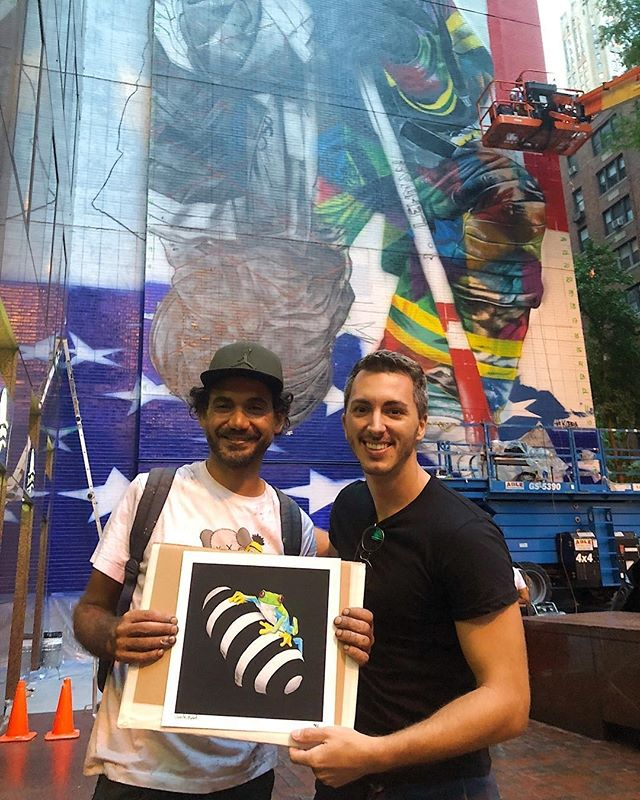Our friend and brilliant artist Vicente Marzal shares impressions with Kobra, the best street artist today!