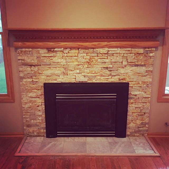 The natural stone also adds a ton of warmth to this room. Today's the perfect day to fire up your indoor fire place if you have one.