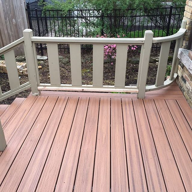 Dreaming of warmer weather and enjoying the outdoors. We loved installing this deck flooring.