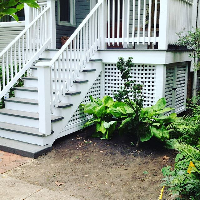 Throwback: The lattice was the perfect finishing touch on this deck.