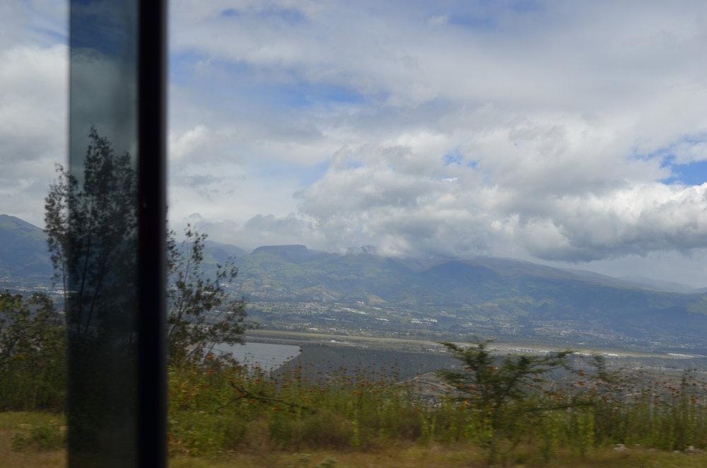 Vista desde mi bus en Cotacachi Ecuador