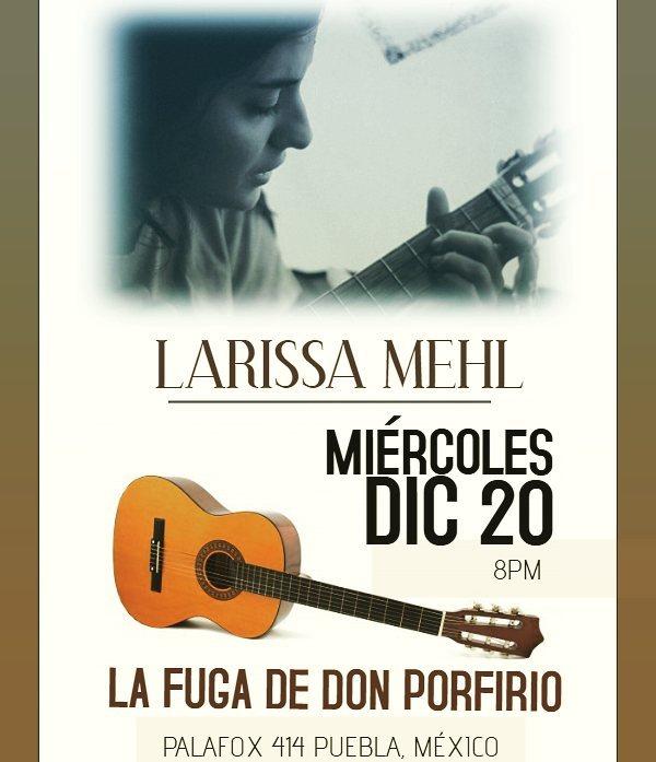 Ese miercoles tocaremos en Puebla.
