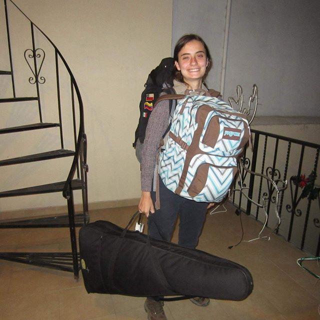 Con todo el equipaje de Latino America desde Adentro para volver a cdmx.