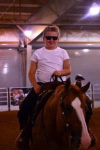 Cade McCutcheon and Ruf Hearted Jac (owned by Turnabout Farm), Champions in the Youth 13 & Under Freestyle