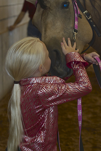 Carlee McCutcheon enjoyed showing her horse, Dun It Got Lucky, in the Youth Horsemanship Clinic & Class.