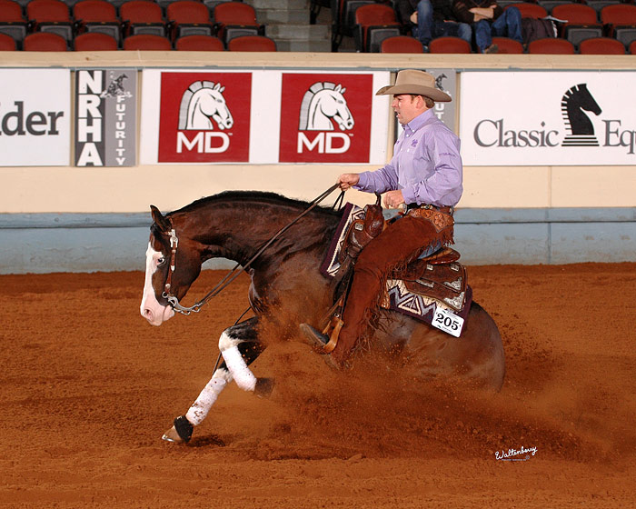 Congratulations to Jordan Larson and Spooks Gotta Whiz, winners of the 2010 NRHA Futurity! The duo scored a 227 in the Level 4 Open Finals.