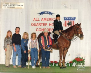 Brother Streakin and Mandy McCutcheon– 1995 AQHA Congress Youth Jumping Champion