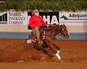 Tim and NRHA Futurity Champion Shining N Sassy