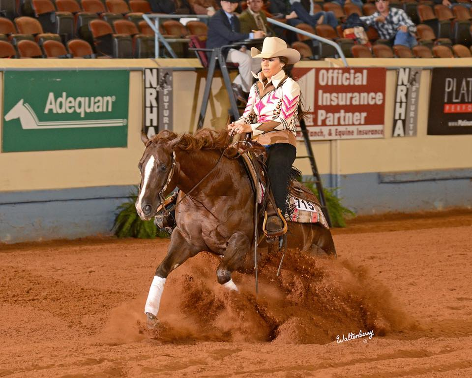 Shine N Money  Placed in the top 5 in the NRHA Non Pro Futurity Level 3 and the Heritage Futurity Non Pro Level 3 and 4, also placing in the top 10 in the Southwest Reining Horse Association Futurity Level 3 Non Pro and the Tulsa Reining Classic Non Pro Futurity Level 3, earning over  $15,000  during her three year old year.