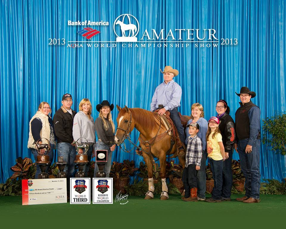 Bound To Be Dun Earner of 71 AQHA points; 2012 World qualifier in Tie-Down and Breakway Roping.