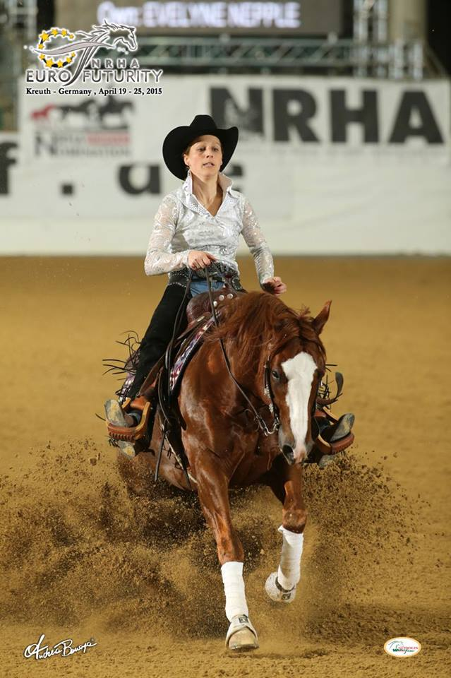 Nu Jersey 2015 NRHA European Futurity- 3rd in Level 1, 4th (tie) in Level 2, and 6th (tie) in Level 3 2014 Equita' Lyon Open Futurity L2 and L1 Champion Earner of $9,908+
