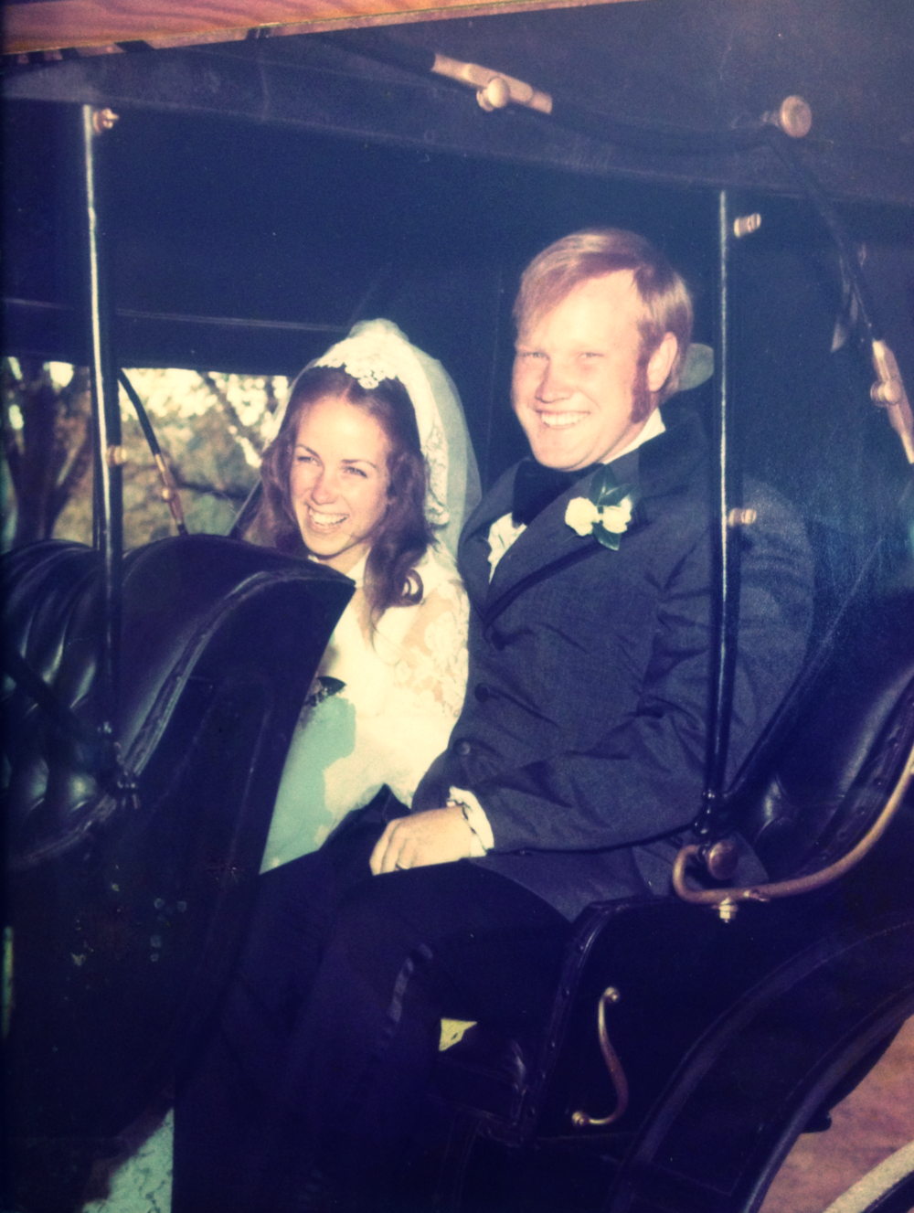 Tim and Colleen on their wedding day, 1973