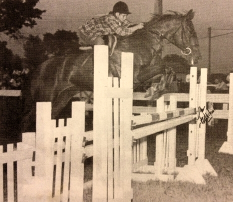Colleen, age 15, riding Surpass in the Junior Jumpers at St. John's Horse Show