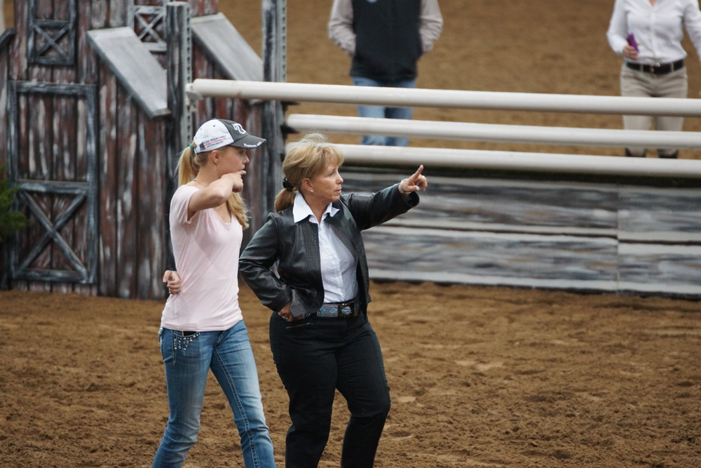 Colleen showing Gretchen course.JPG