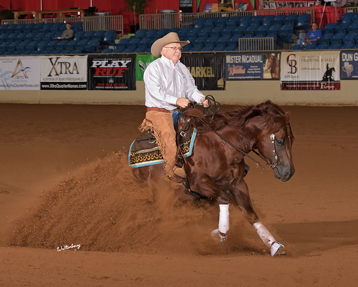 Tim McQuay tied for Reserve Champion in the Developing Futurity (Section A)