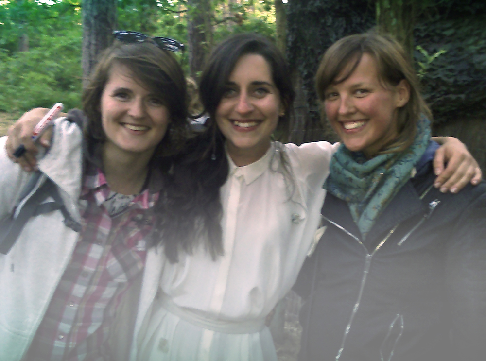A friend , Eefje and I at Oerol