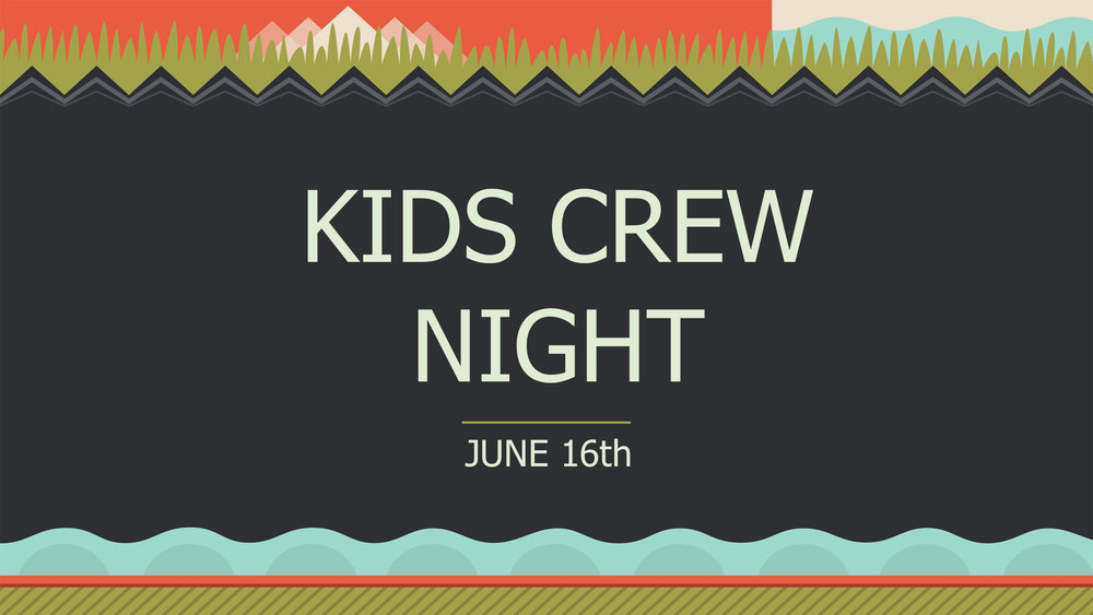 For Faith Kids Crew Only (5th Grade) absolutely free come out and enjoy!  It will be from 6-9 PM.