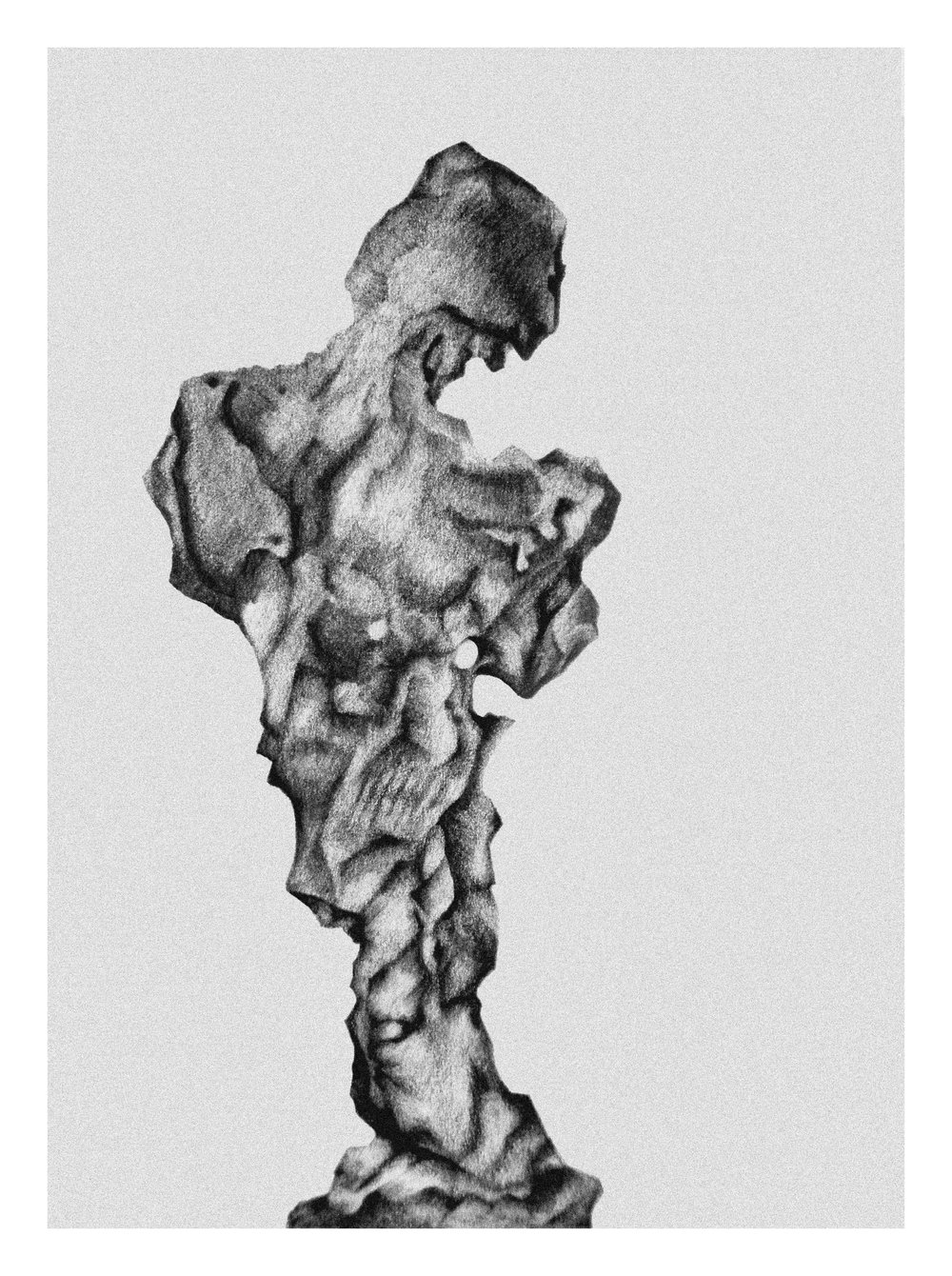 A Piece Of Stone / 頑仙   2014, New York  Pencil
