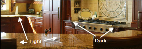 granite kitchen countertops 1+1 = ? — the kitchen designer