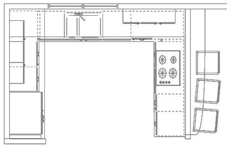 plain simple kitchen plan elevation design edraw to ideas - Simple Kitchen Elevation