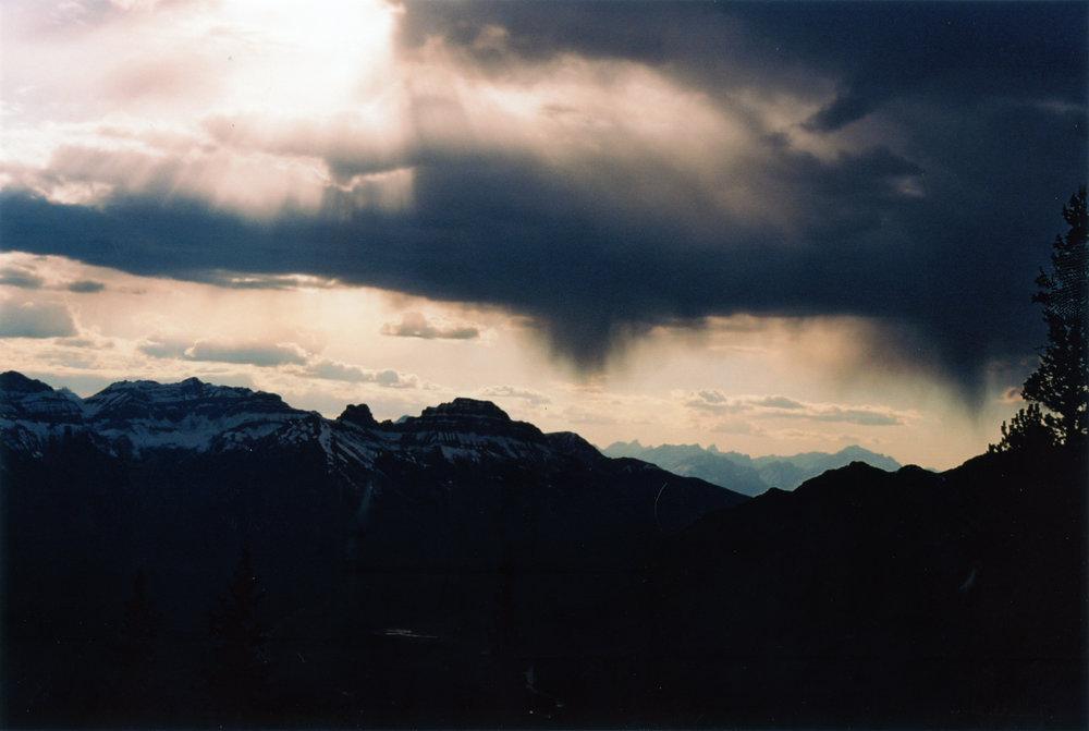 Storm atop Sulphur Mountain - Banff, CA    Ektar 100 - Olympus OM10