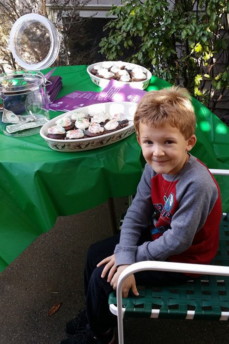 Our star volunteer,  Jason , age 6, sold homemade chocolate cupcakes and raised over $100.00 himself at  ASF's Succulent Sale  for  FAAS .