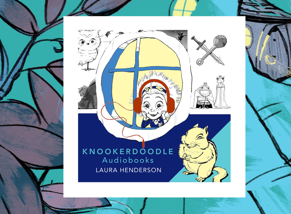 Audio Books - Discover Knookerdoodle audio books! Read by Laura Henderson and special guest narrators -  Peanut, Belle, and Baby Buttercup.