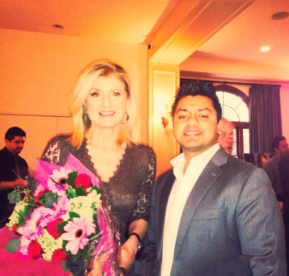 Chandresh with Ariana Huffington