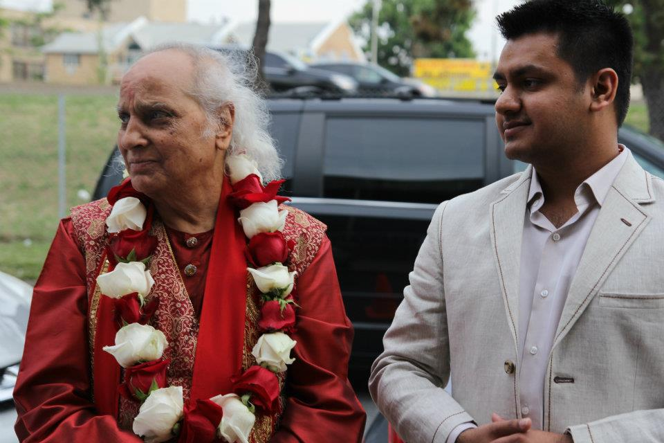 Chandresh with Pandit Jasraj
