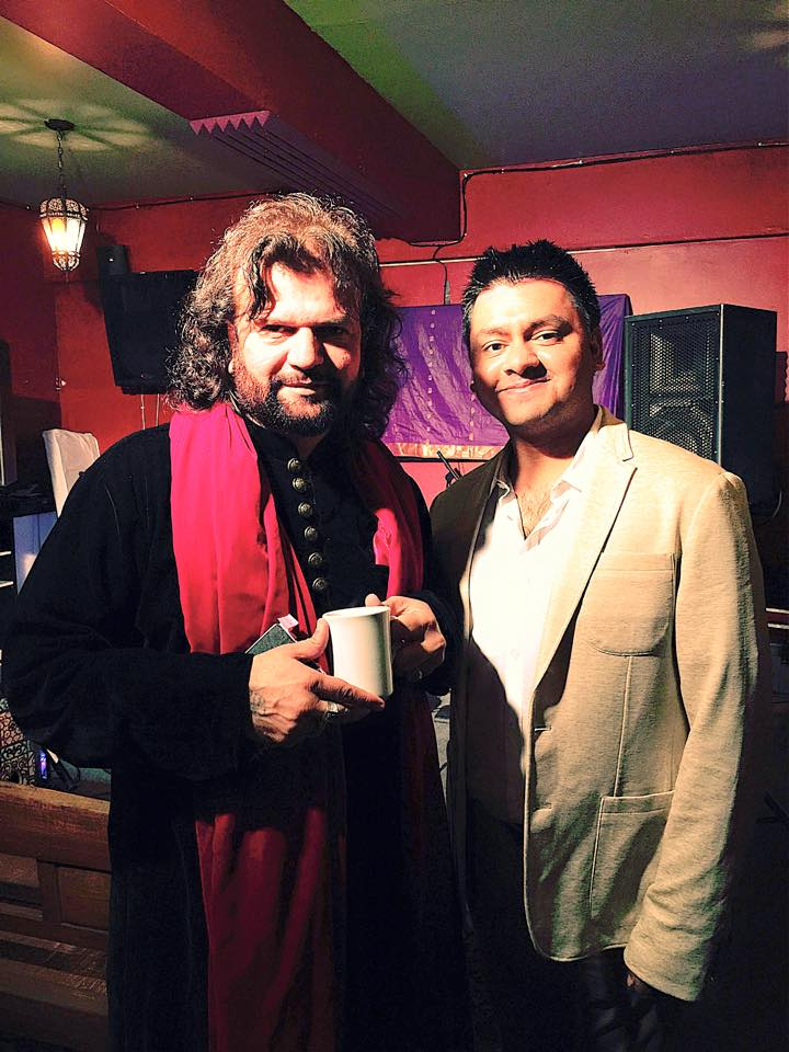 Chandresh with Sufi Maestro Hans Raj Hans
